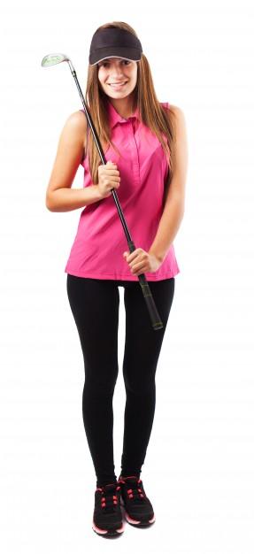 amanda ude og spille golf2
